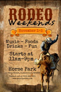 Customizable Design Templates for Rodeo  PosterMyWall