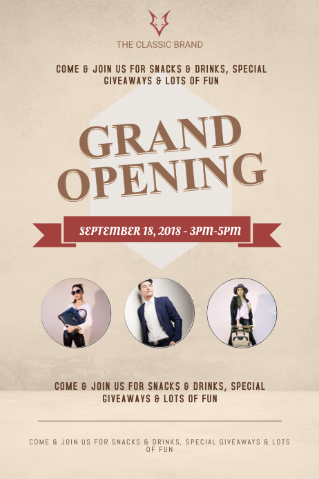 Salon Grand Opening Poster Template PosterMyWall