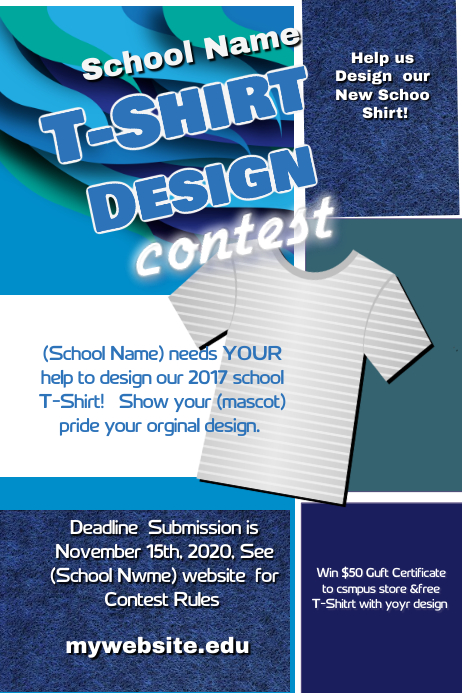 School T Shirt Design Contest Template Postermywall