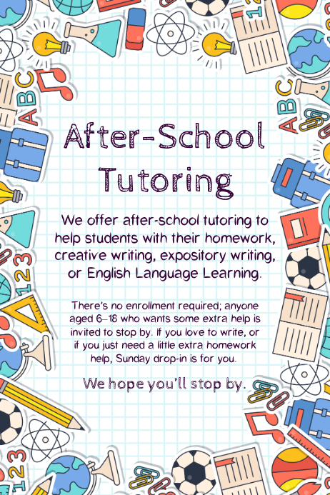 how to make a tutoring flyer