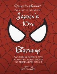 spiderman customizable design templates