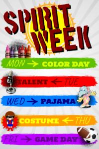 23410 Customizable Design Templates for Spirit Week Template  PosterMyWall