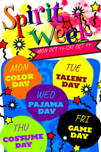 180 Customizable Design Templates for Spirit Week Poster