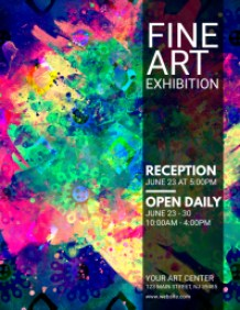 Fine Art Exhibition Flyer Template