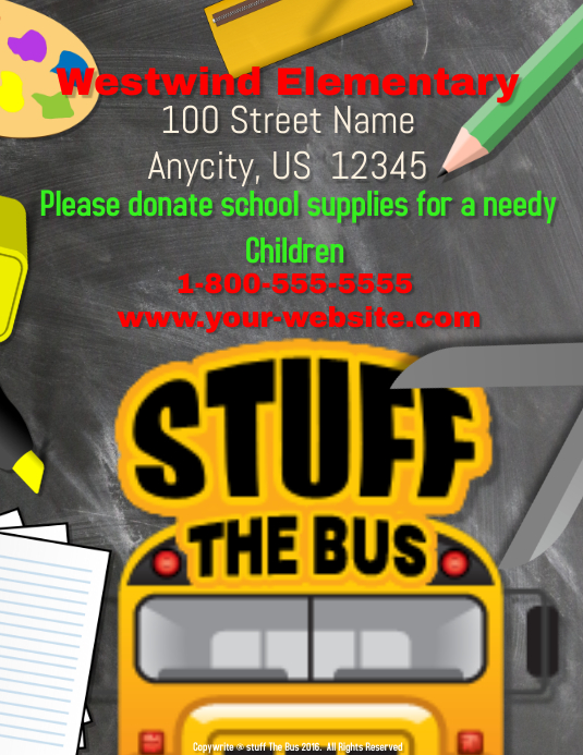Stuff The Bus Template  PosterMyWall