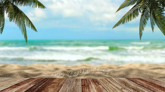 Pantai Musim Panas Zoom Video Latar Belakang Virtual Templat Postermywall
