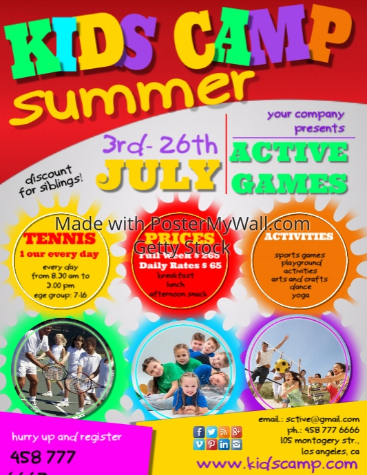 Create Summer Camp Posters Online! | PosterMyWall
