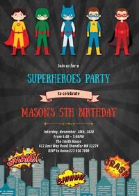 29 870 superhero kids birthday party