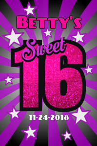 Customizable Design Templates for Sweet 16 | PosterMyWall