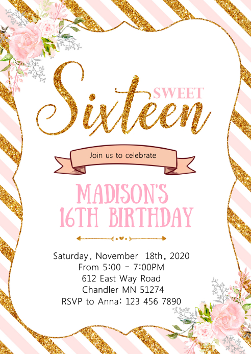 sweet sixteen birthday party