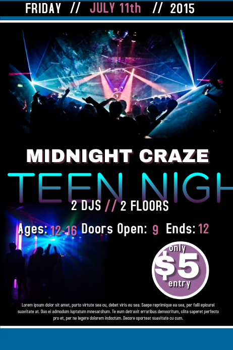 Teen Night Template PosterMyWall