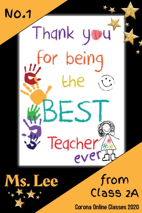 Ucapan Terimakasih Untuk Guru : ucapan, terimakasih, untuk, Terima, Kasih, Templat, PosterMyWall