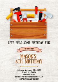 Take a look at the pictures from his party and then scroll down and grab the printables for your own party. 8 280 Construction Birthday Customizable Design Templates Postermywall