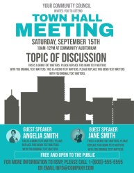 hall town meeting template flyer letter