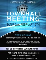 meeting hall town template flyer poster campaign posters templates invitation postermywall customize business wording sign