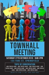 Copy of Town Hall Meeting Poster PosterMyWall