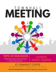 meeting townhall flyer template