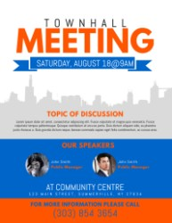 flyer meeting template town townhall hall templates flyers event customizable posters postermywall letter digital