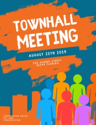 flyer template meeting townhall letter event