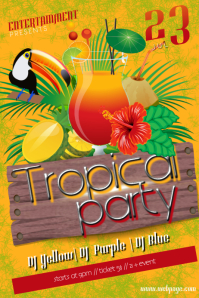 16720 Customizable Design Templates for Tropical Party