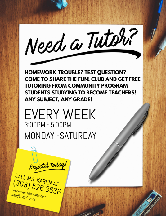 Tutoring Service Flyer Template PosterMyWall