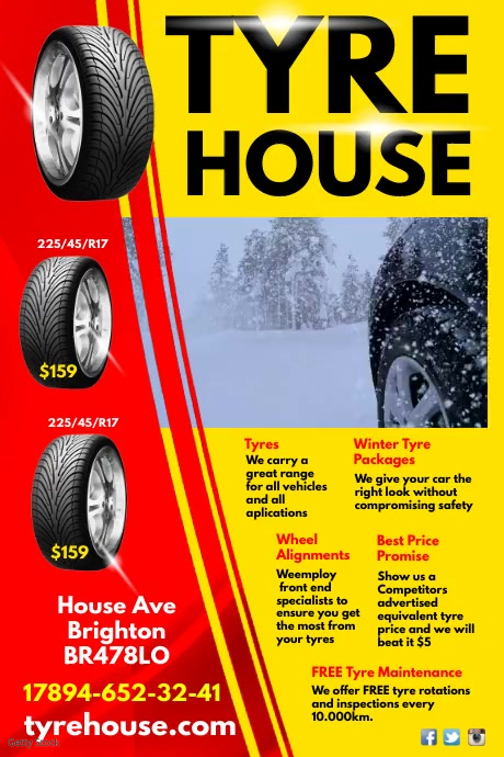 Tyre House Video Advert Template  PosterMyWall