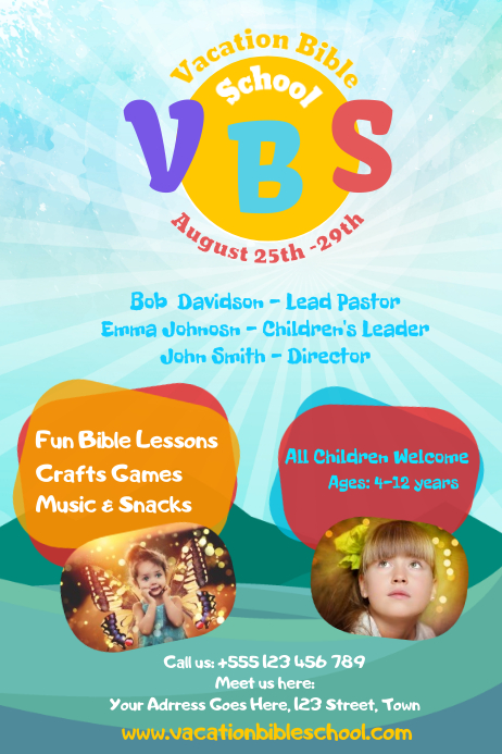 Copy of VBS Poster Template  PosterMyWall
