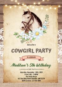 10 920 horse birthday invitation