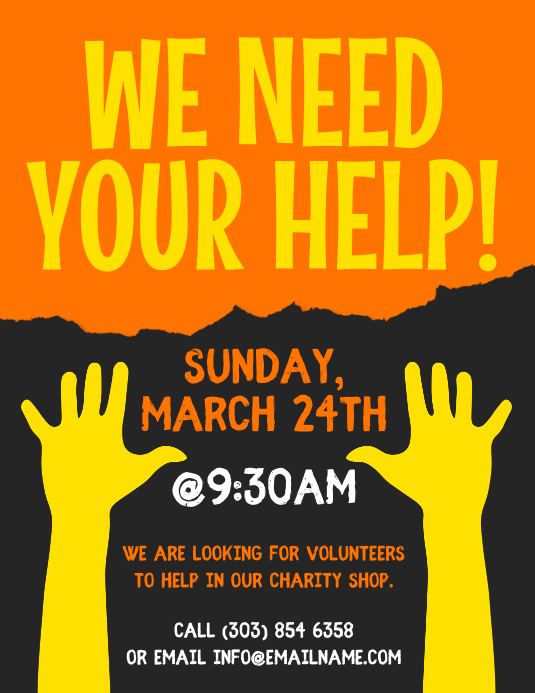 John senior center 123 business rd. Volunteer Flyer Templat Postermywall