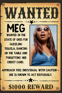 Funny Wanted Posters : funny, wanted, posters, Customize, Wanted, Poster, Templates, PosterMyWall