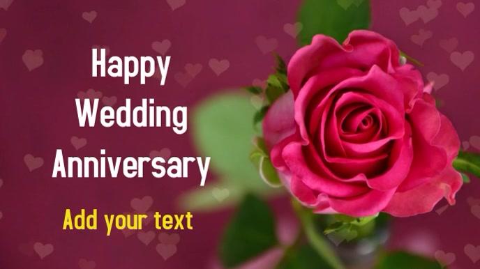 Wedding Anniversary Proposal Video Templat Postermywall