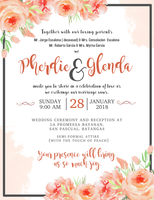 Simple Wedding Invitation Wording Samples