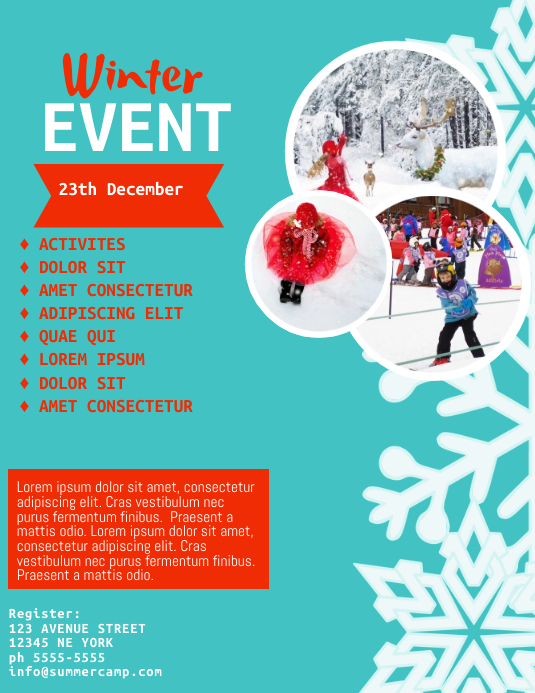 Winter Childrens Event Flyer Template PosterMyWall