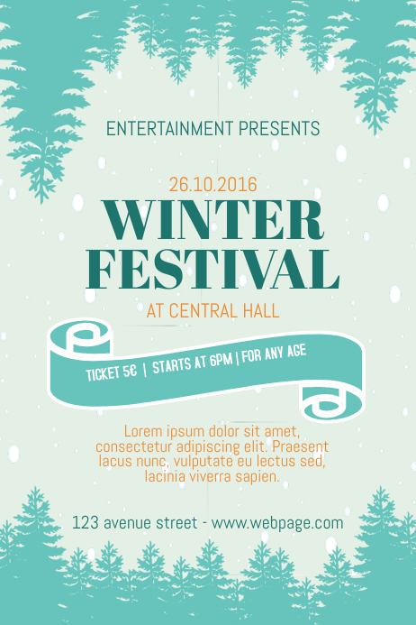 Winter Fair Festival Flyer Template PosterMyWall