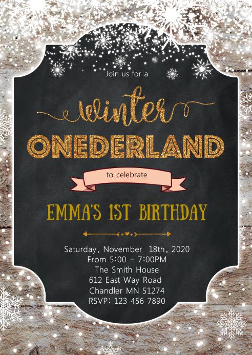 winter onederland birthday party