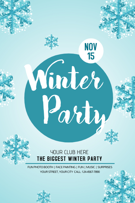 Customize 1 430 Winter Poster Templates PosterMyWall