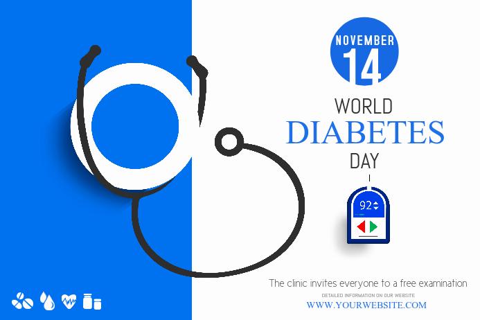 Plantilla de Póster Del Día Mundial de La Diabetes de ...