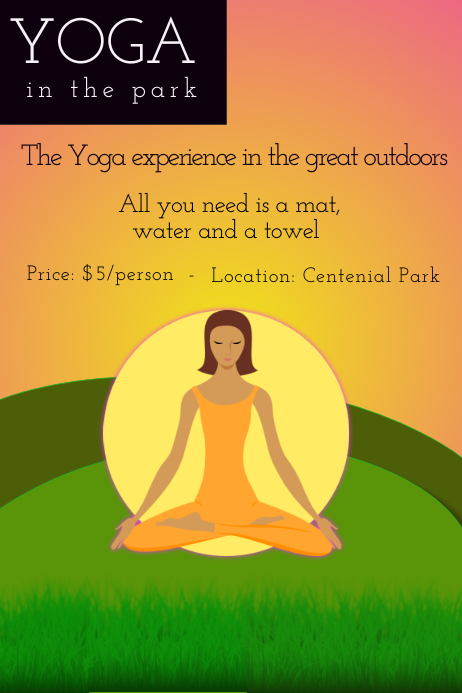 Yoga in the park Template  PosterMyWall