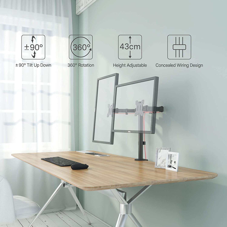 Schedario da ufficio in faggio con serrandina, anni '30. Desk Stand For 2 Monitors With Clamp 13 32 Monitor Desk Mounts Tv Mounts