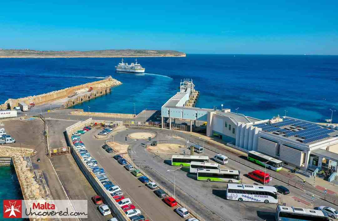 The Gozo ferry leaving Cirkewwa.