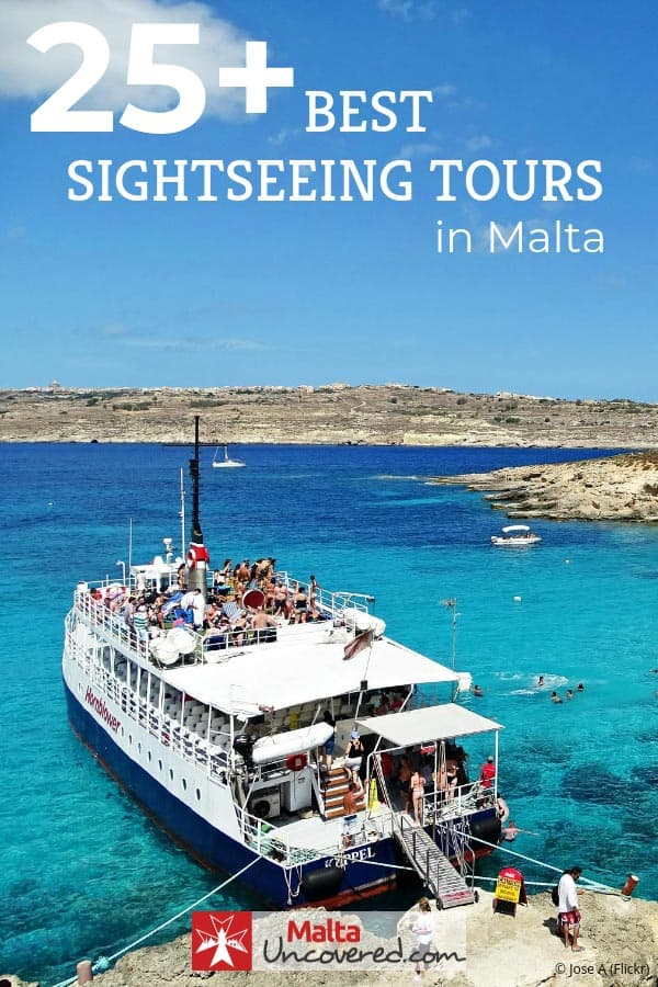 Get the best sightseeing excursions and malta tours by boat and over land