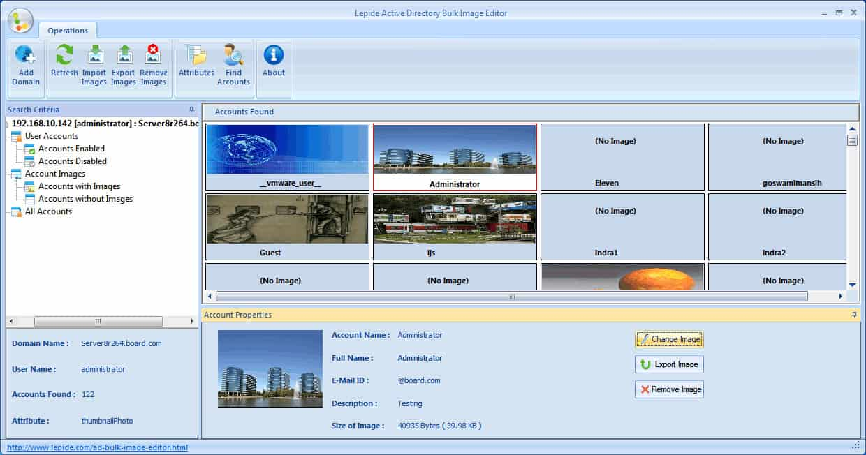 hight resolution of active directory bulk image upload and editor