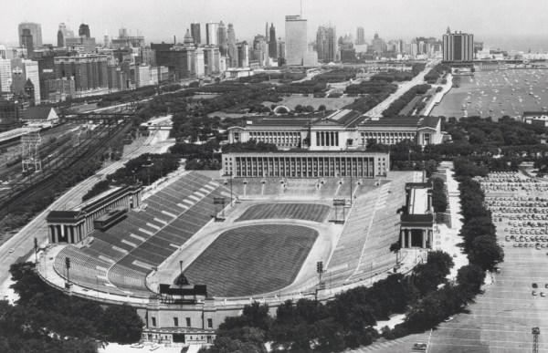 Vintage Soldier Field Black amp White Historical Chicago