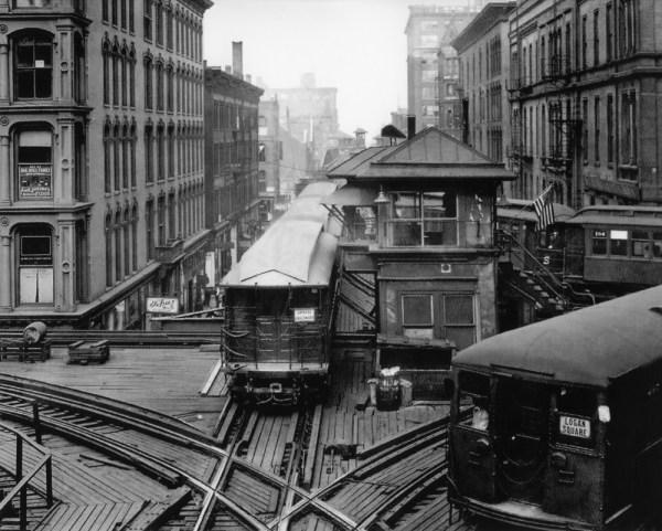 Old CTA Train Cars Vintage CTA Logan Square Chicago