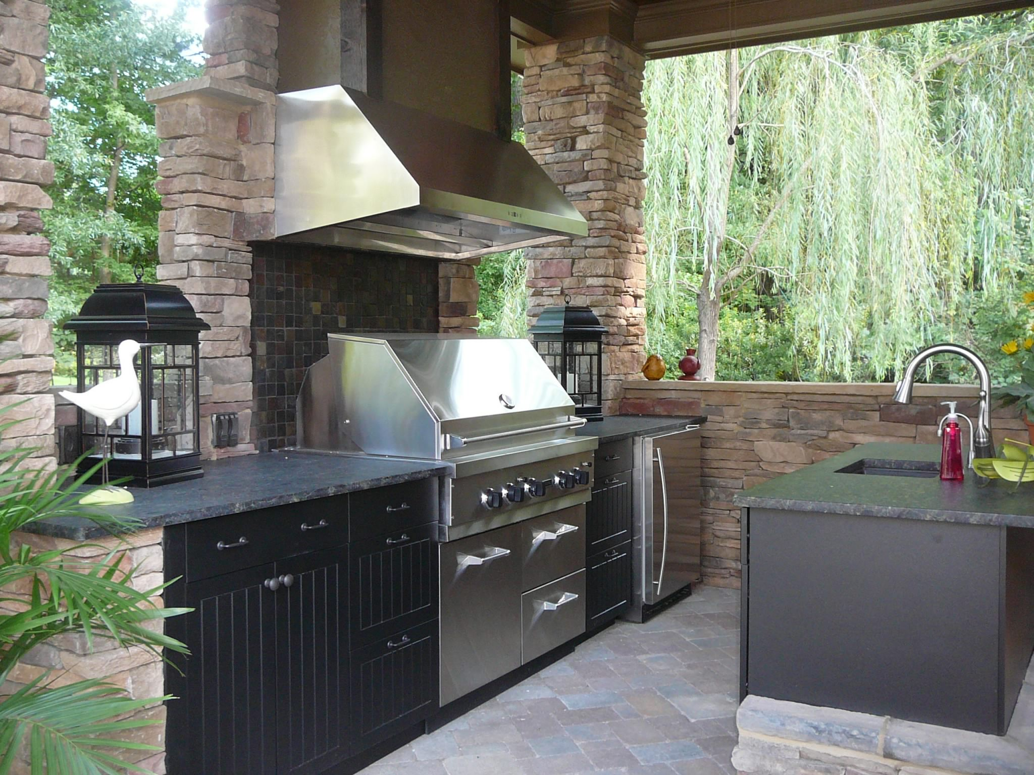 outdoor kitchen exhaust hoods stoves gas building the perfect lanai kitchens