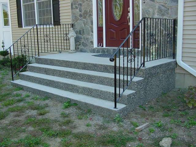 Precast Concrete Steps Concrete Products In Danbury Ct Mono | Aluminum Handrails For Concrete Steps | Garden | Residential | Vinyl | House Stone | Back Patio