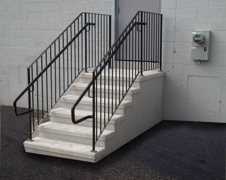 Precast Concrete Steps Concrete Products In Danbury Ct Mono   Aluminum Handrails For Concrete Steps   Stair   Wood   Front Porch   Back Patio   Mobile Home