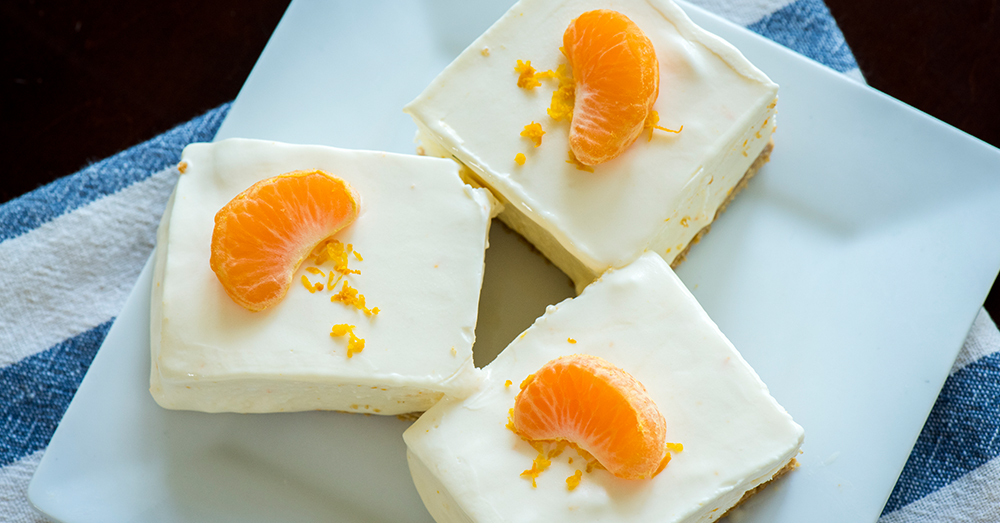 orange creamsicle freezer bars