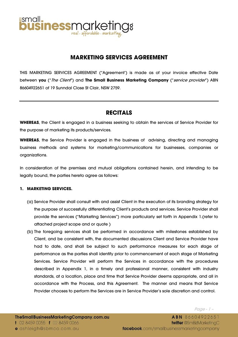 General Marketing Services Terms & Conditions - SBMCo by... - Flipsnack