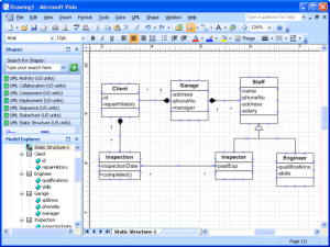 1 Here we have a Class Diagram drew in Visio